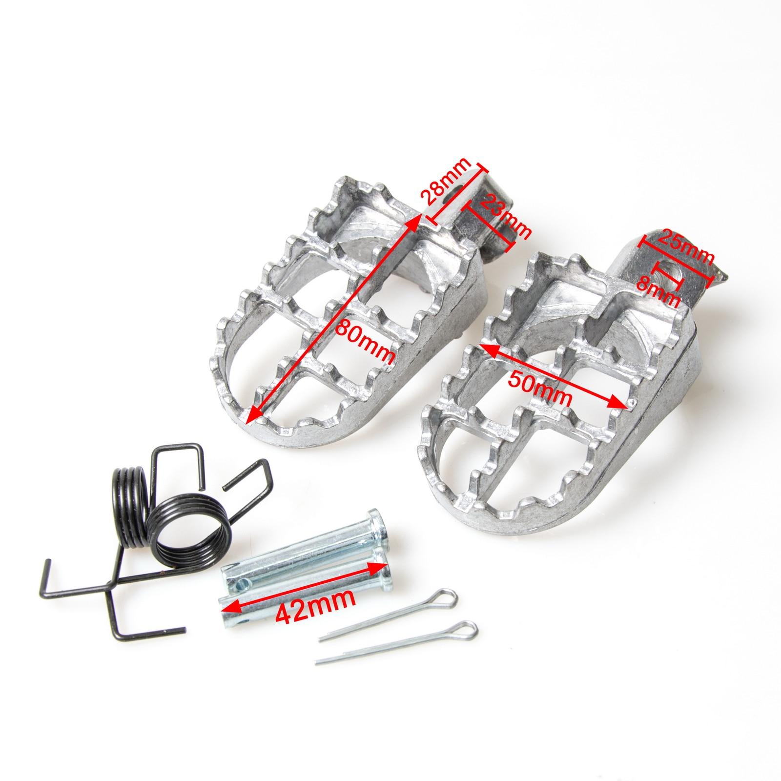 Foot Rests Pegs Footpegs For Honda XR50R CRF50 CRF70 CRF80 CRF100F CRF 50 70 80 100F XR 50R For Yamaha PW50 PW80 TW200 Dirt Bike