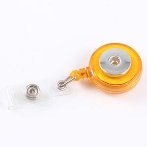 Image 4 - נשלף סקי פס תעודת זהות תג מחזיק סליל למשוך מפתח שם תג רתיעה סליל Fit 18 MM הצמד תכשיטי כפתור עבור בית ספר בית חולים