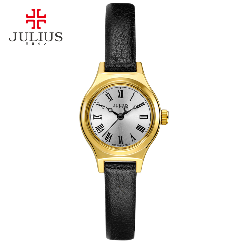2017 JULIUS Quartz Brand Lady Watches Women Luxury Rose Gold Antique Square Leather Dress Wrist watch Relogio Feminino Montre top julius brand woman watch rose gold dress lady leather quartz watch girl watches clock creative barrel shape roman character
