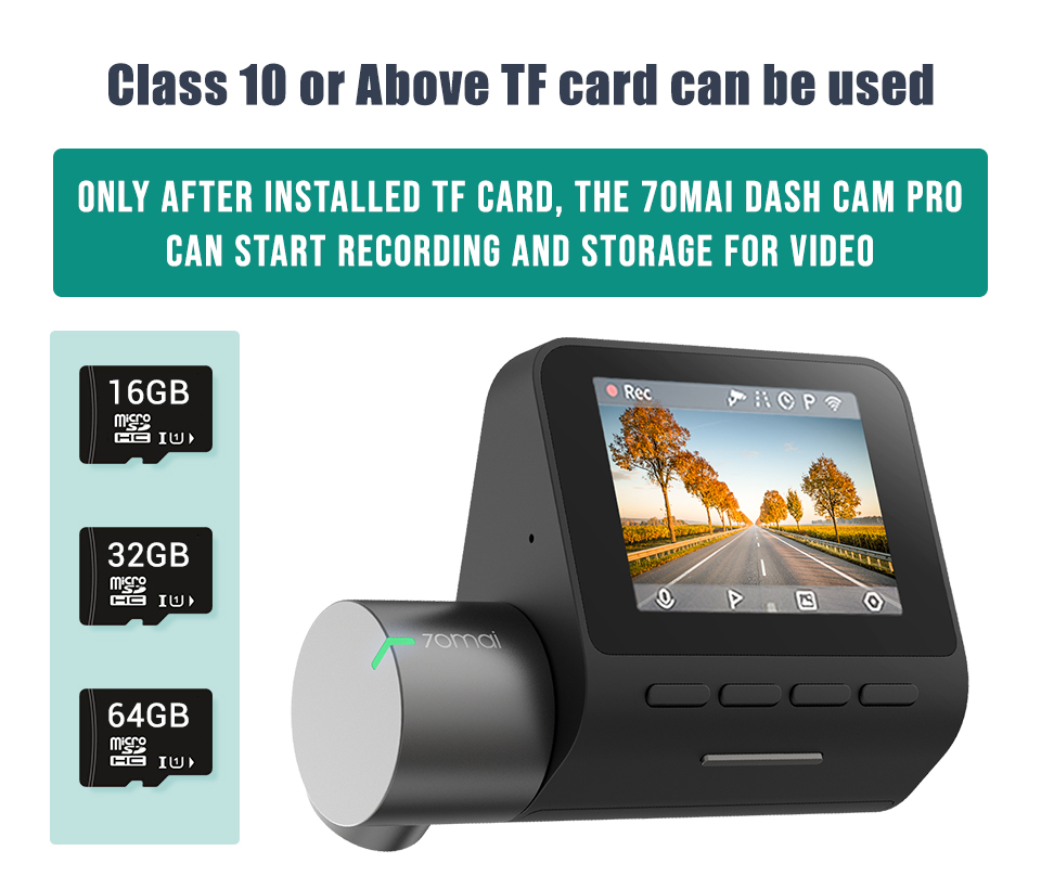 Original 70mai Dash Cam Pro 1944P Speed & Coordinates GPS ADAS 70mai pro Car Dash Camera WiFi DVR Voice Control 24H Park 70 MAI