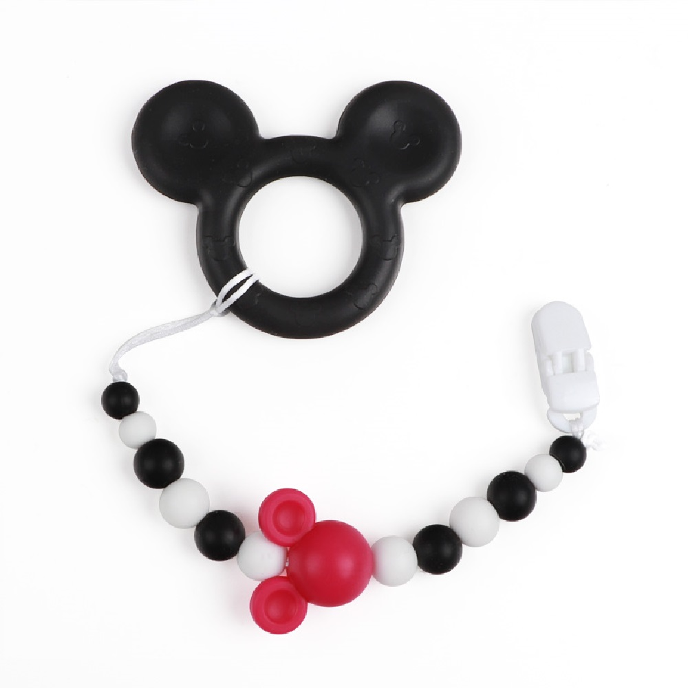 TYRY.HU Mickey Baby Silicone Pacifier Chains Safe Silicone beads Teething Chain Baby Teether Eco-friendly Pacifier Clips HolderTYRY.HU Mickey Baby Silicone Pacifier Chains Safe Silicone beads Teething Chain Baby Teether Eco-friendly Pacifier Clips Holder