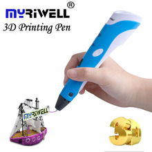 Myriwell 3D Pen DIY 3D Printer Pen Drawing 3d Printing Pens with ABS Filament 1.75mm for Kids Christmas Birthday gift