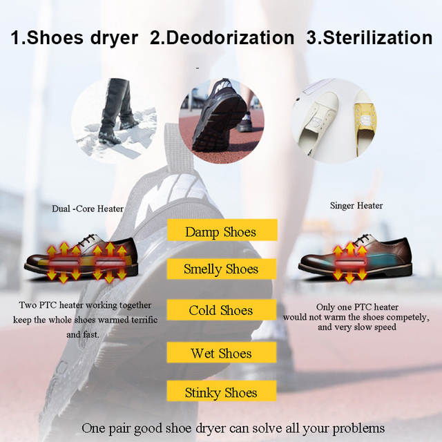 LUCOG Portable Electric Shoe Dryer