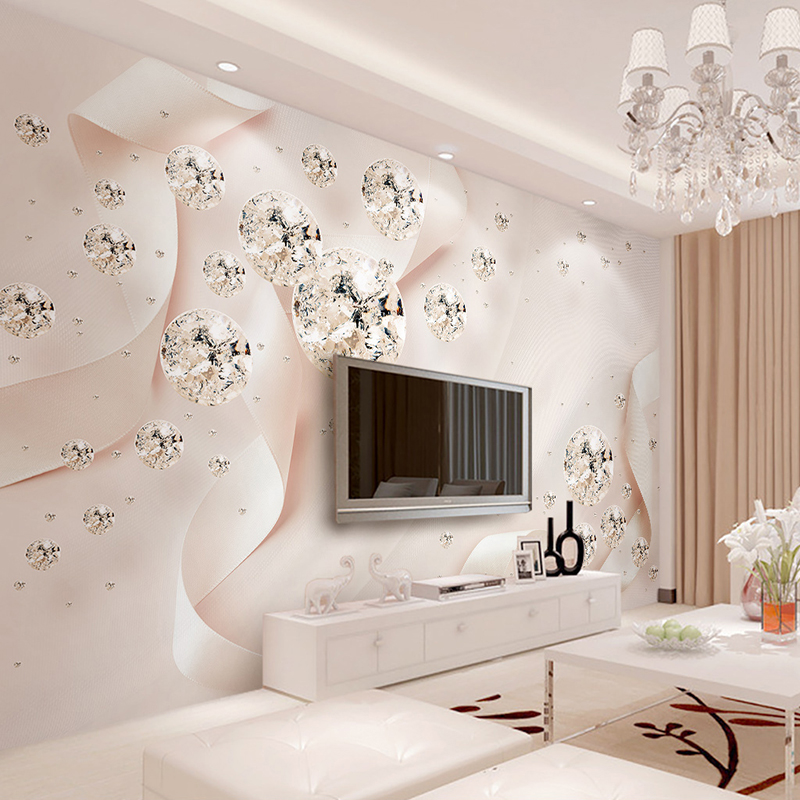 custom photo wallpaper modern 3d creative pink ribbon silk. Black Bedroom Furniture Sets. Home Design Ideas