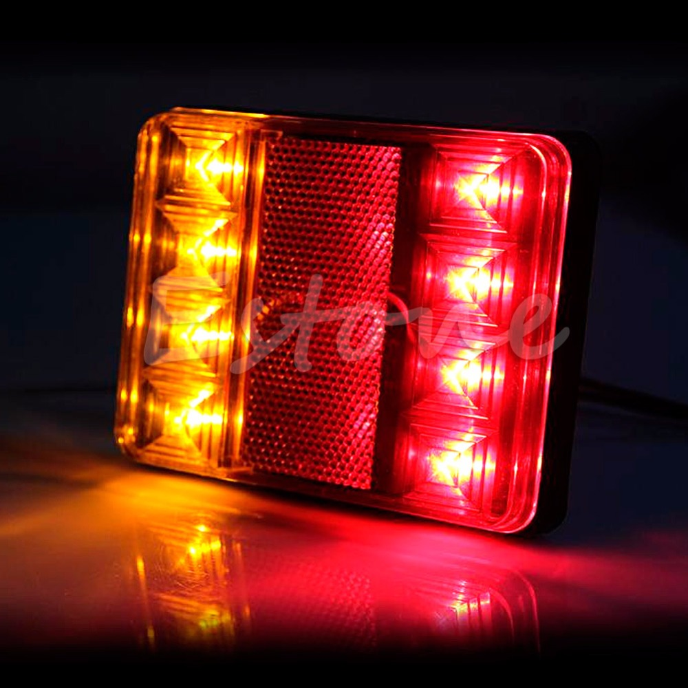 YAM 1 Pair LED Waterproof Truck Trailer CARAVAN Stop Brake Tail Light Indicator Lamp isrotel yam suf ex ambassador 4 эйлат
