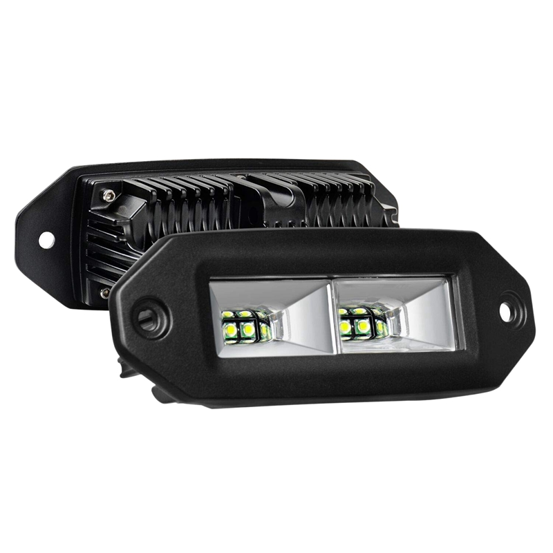 Led Light Bar,40W Flush Mount Led Pods, 2Pcs Off Road Backup Driving Lights Fog Lamp for Jeep Bumper Atv Utv Suv Truck Boat