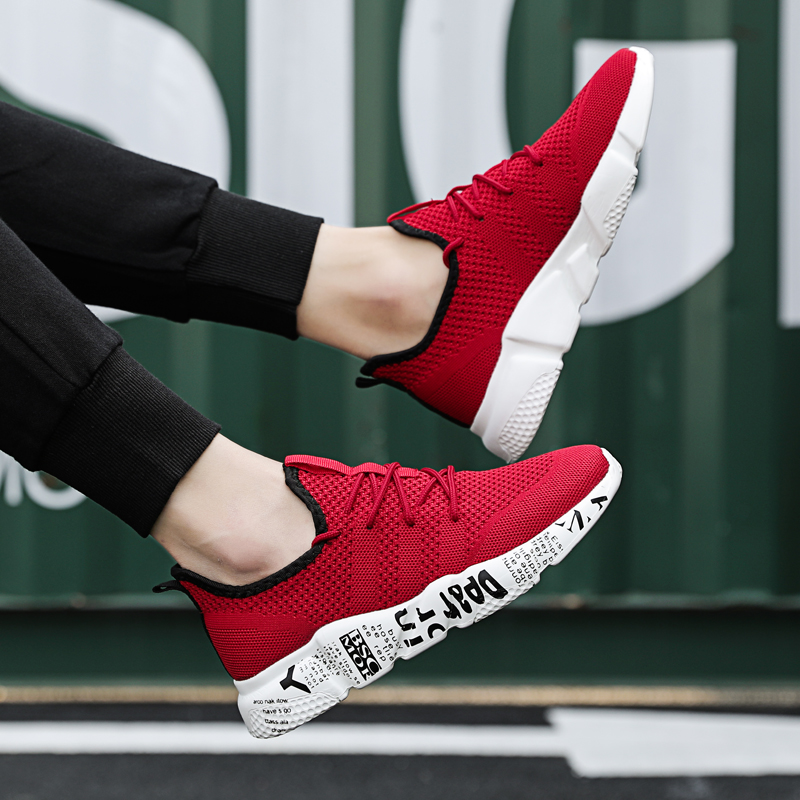 Graffiti Sapatos de Trabalho do Homem Vulcanizada Sapatos Vermelhos