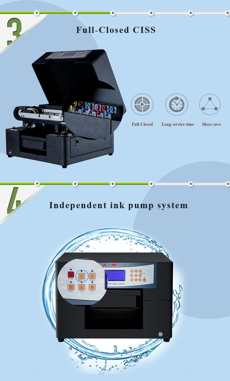 Cheap AIRWREN uv led Mini6 printer with a4 size portable for small ...