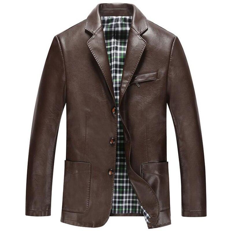 Livraison gratuite Faux cuir vestes hommes 2017 affaires hommes en cuir veste et manteaux marque Designer hommes en cuir veste manteau C1220