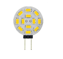 G4 4W 12SMD 12 LEDS 5730  LED Spotlight 400LM DC AC8-20V Warm White or White  Wholesale JTFL073-1 1PCS