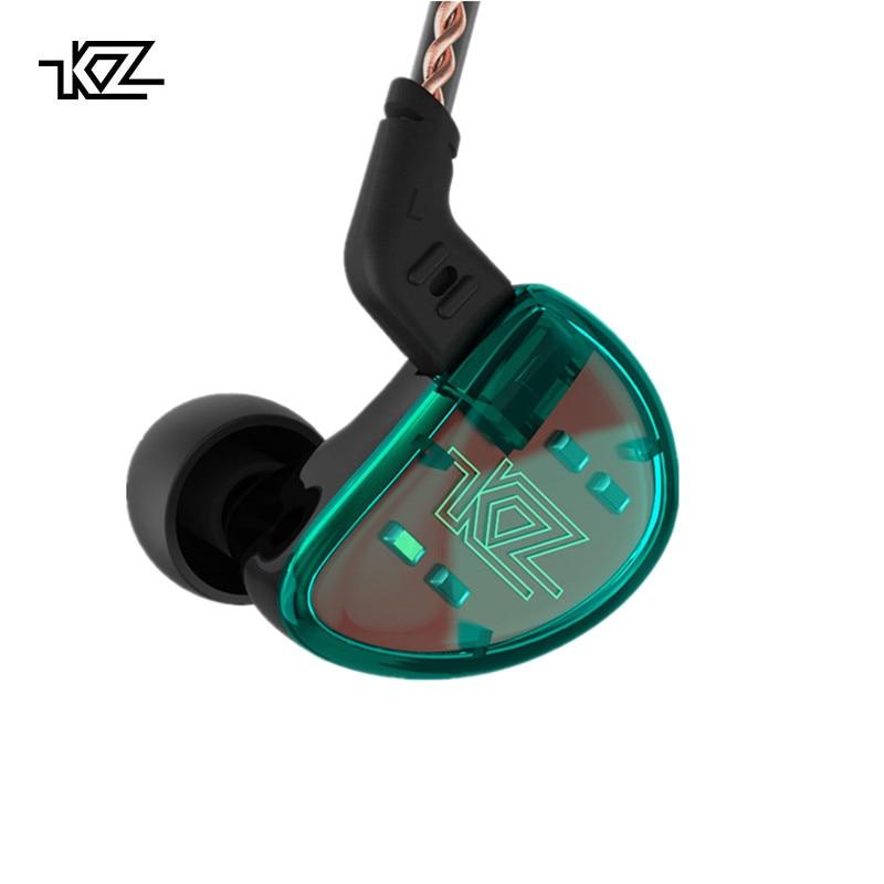 KZ AS10 Ciano 5BA Driver Balanced Armature HIFI Bass In Auricolari Monitor Cuffia Con Cancellazione del Rumore Auricolari Delle Cuffie Bluetooth