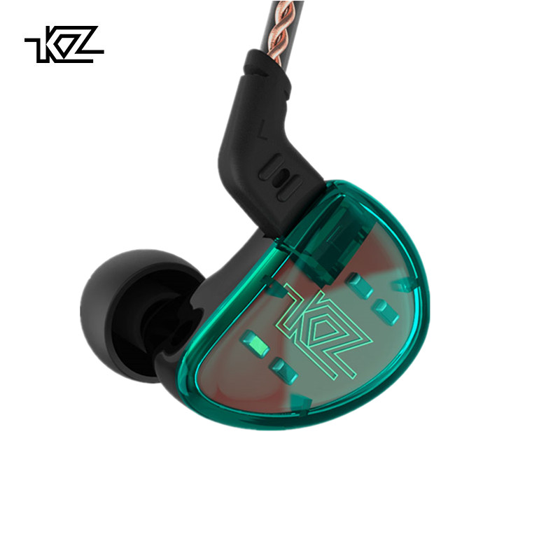 KZ AS10 Cyan 5BA Balanced Armature Driver HIFI Bass In Earphones Monitor Headset Noise Cancelling Earbuds Headphones Bluetooth kz as10 headphones 5ba balanced armature driver hifi bass earphones in ear monitor sport headset noise cancelling earbuds