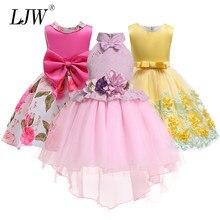 32ec4b076 Bordado bebé princesa de seda para el banquete de boda vestidos para niño niña  niños ropa