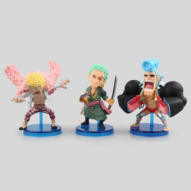 One Piece Action Figure Set [6pcs] – Franky + Luffy + Doflamingo + Zoro + Baby + Sanji