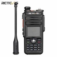 DMR TDMR Digital GPS DCDM Walkie Talkie Retevis RT82 Record Dual Band UHF VHF Ham Radio