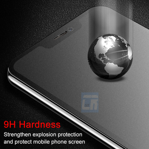Image 5 - No Fingerprint Full Cover Matte Tempered Glass for iPhone X 8 7 6S Plus Screen Protector Frosted Glass for iPhone XS MAX XR Film