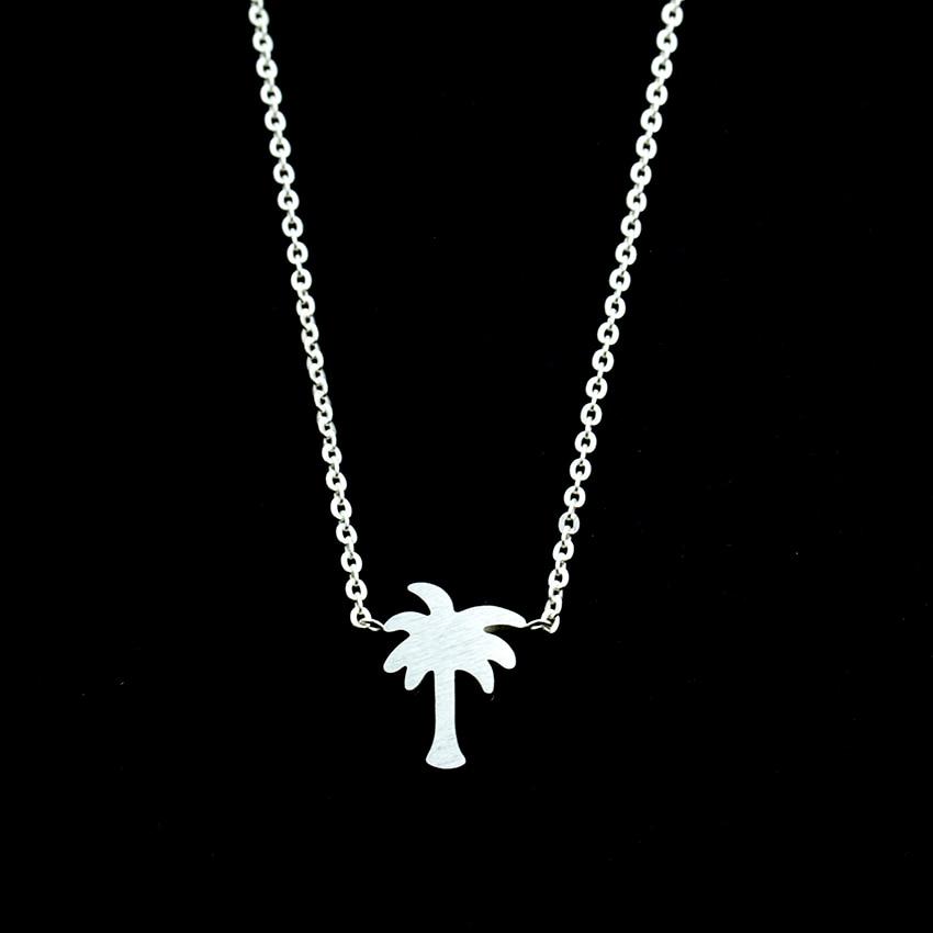 Pulau kehidupan, Pohon palem kalung, Stainless Steel tato Choker - Perhiasan fashion - Foto 5
