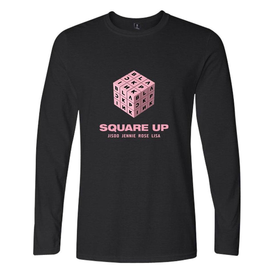 Cool Streetwear Fashion Hip Hop T-shirt New BTS Kpop Tops Girl Group Long Sleeve T Shirt Women/men Cotton Kpop XXS To 4XL