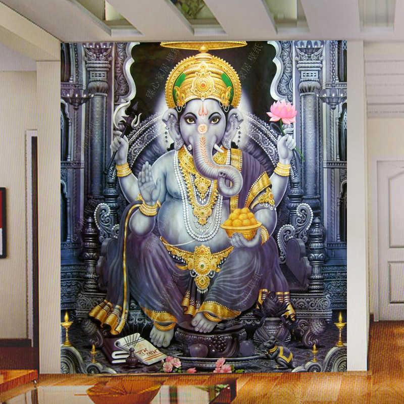 Beibehang papel de parede para quarto asia tenggara gaya yoga ruang mural wallpaper indian gajah dewa mural wallpaper