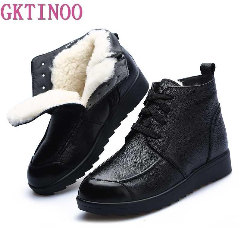 474e7a057 Модные зимние женские сапоги женские на шнуровке ботильоны шерсть теплые зимние  сапоги Дамская обувь женская обувь