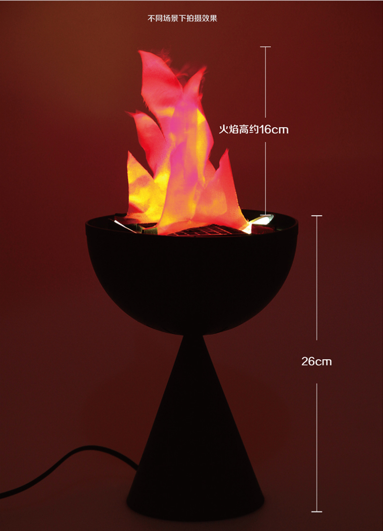 new hot 20cm table top flame lamp halloween decoration. Black Bedroom Furniture Sets. Home Design Ideas