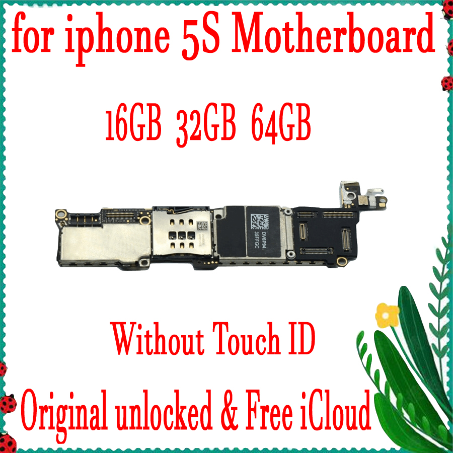 16GB 32GB 64GB for iphone 5S Motherboard with Free iCloud,Original unlocked for iphone 5S Mainboard without Touch ID,Good Tested16GB 32GB 64GB for iphone 5S Motherboard with Free iCloud,Original unlocked for iphone 5S Mainboard without Touch ID,Good Tested