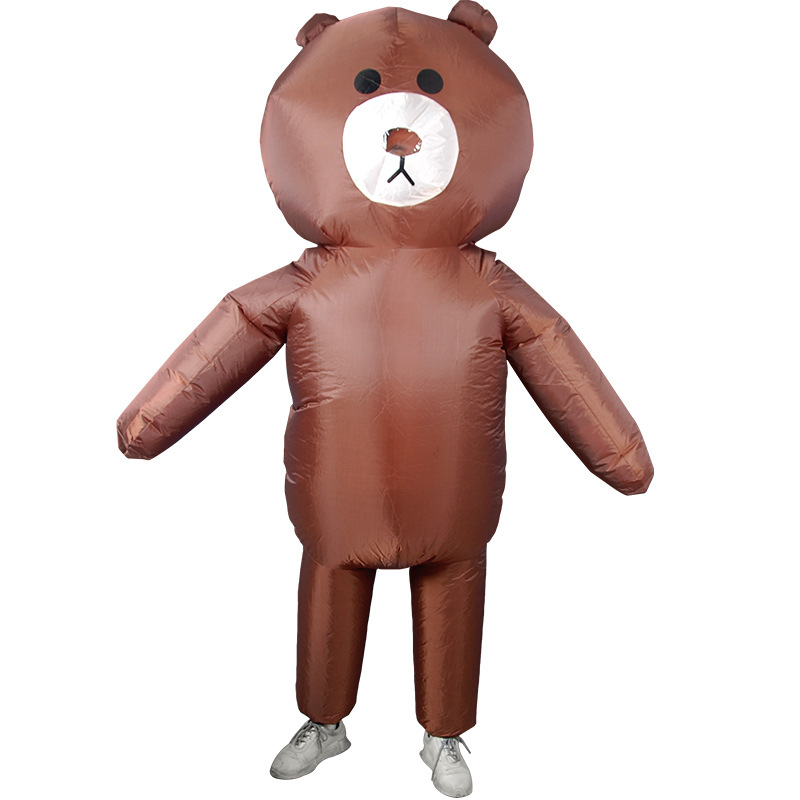 Brown Bear Inflatable Costume For Adult Christmas/Halloween/Birthday/Make-up Party Fun Toys ET Dress Up Cosplay Suits Outfit