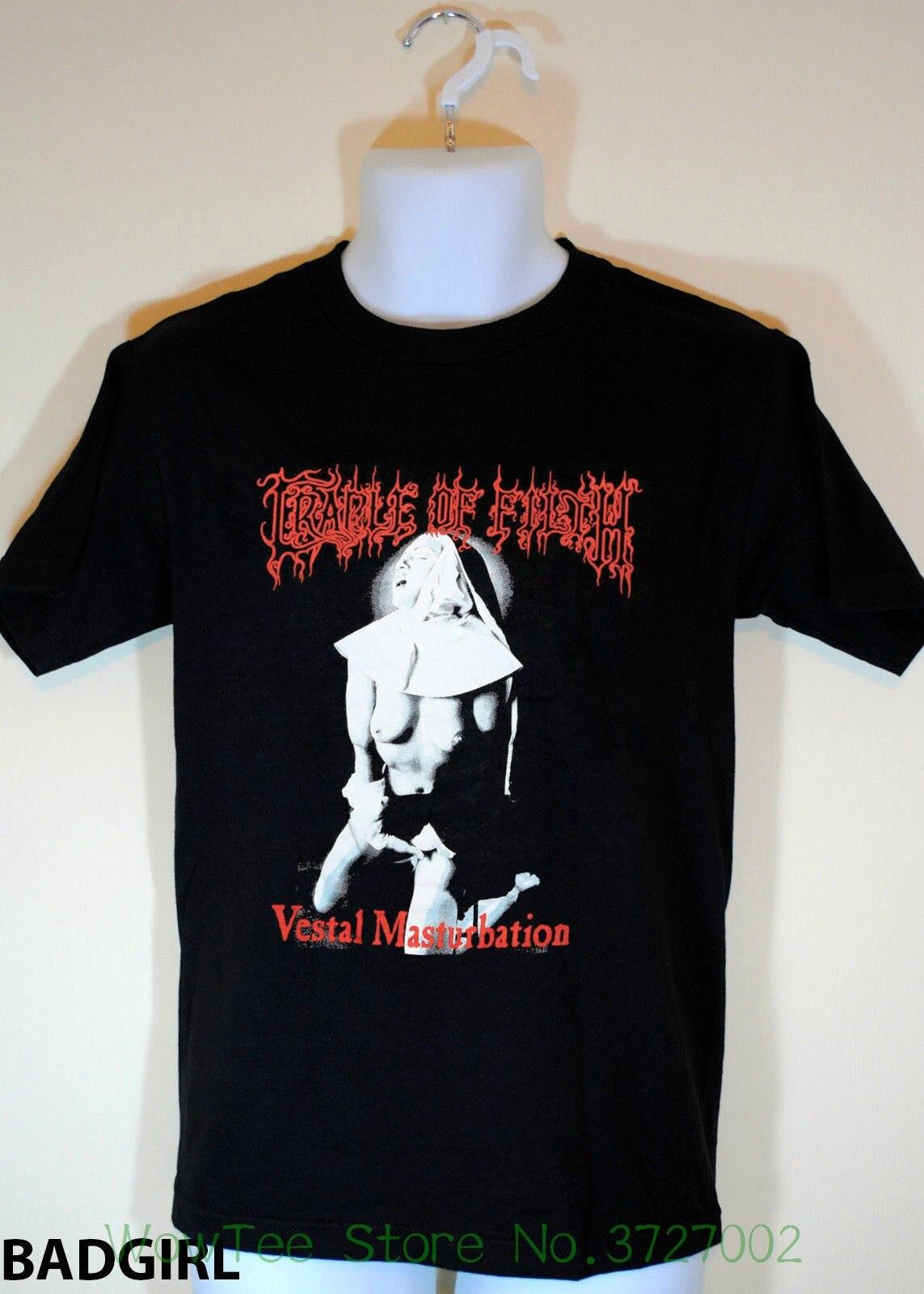 1990s Cradle Of Filth Vestal Vintage - Reprint Sz S - Xxl 2018 Brand T Shirt Men Fashion bts v warriors jacket