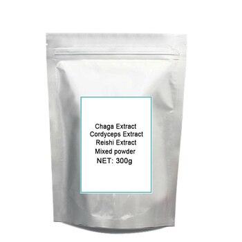 3 Mixed Mushroom 30% Polysaccharide Chaga Reishi Cordyceps Extract Po-wder each 100gram total 300gram