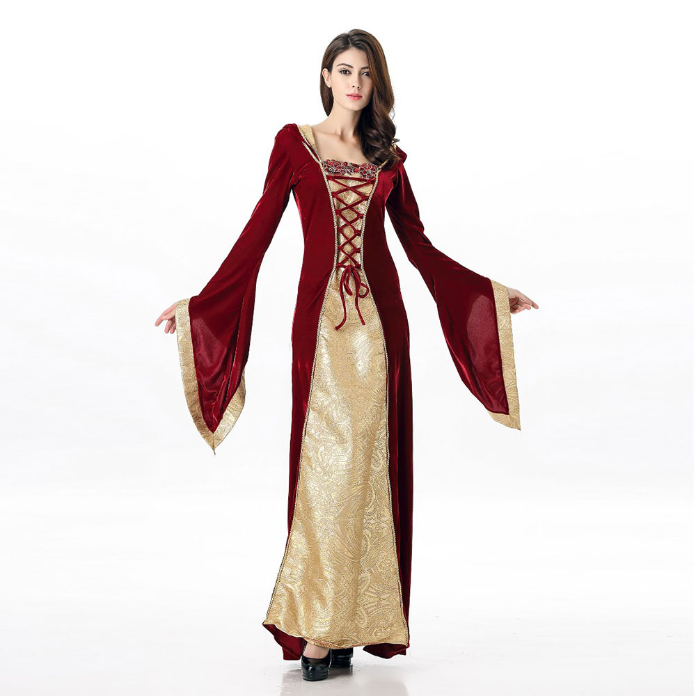 VASHEJIANG Sexy Medieval Costume Cosplay Dress Adult ...