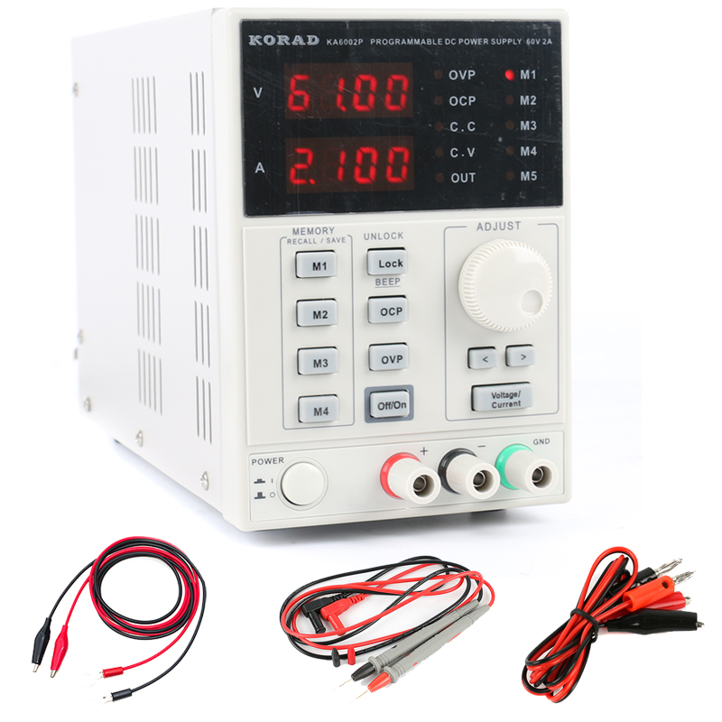 KORAD KA6002P High precision Programmable Adjustable Digital DC POWER SUPPLY 60V/2A R232 and USB Connect computer 220V uni t utp1305 dc power high precision programmable adjustable digital dc power supply 32v 5a usb connect computer eu 230v
