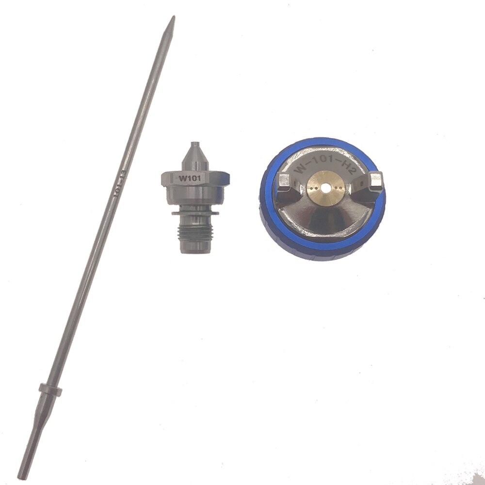 Spray Gun W101 Hand Manuelle Spritzpistole Düse 1,0/1,3/1,5/1,8mm Farbe Spritzpistole Düse kit Set