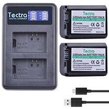 Tectra 2Pcs NP-FW50 NPFW50 Alternative Battery + LCD USB Twin Charger for Sony NEX-7 NEX-5N NEX-F3 NEX-3D NEX-3DW NEX-3K NEX-5C