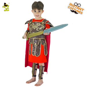 Image 2 - Honor Red Knight Costumes Kids Brave Warrior Leaders Role Play Sets with Cape Halloween Medieval Soldiers Cosplay Fancy Dress