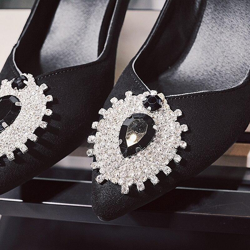 Slip Sur 33 Bureau Peu Chaussures Haute bleu Pompes Strass Sexy La Plus Noir Dames Talons Bout Pointu Profonde Taille Curvaness 43 Royal Féminine Mode Femmes rouge qR8tIw0WW