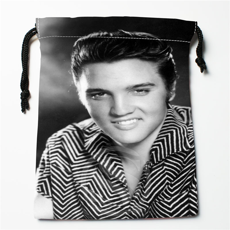 J&w4 New Elvis Presley  Custom Printed  Receive Bag Compression Type Drawstring Bags Size 18X22cm W725&JYe4