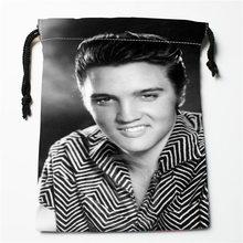 J w4 New Elvis Presley Custom Printed receive Bag Compression Type drawstring bags size 18X22cm W725