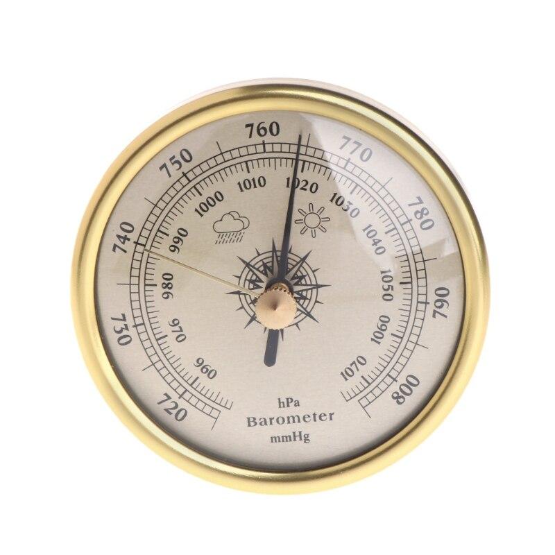 72mm colgante de pared barómetro 1070hPa Color oro Dial redondo de la estación meteorológica de aire