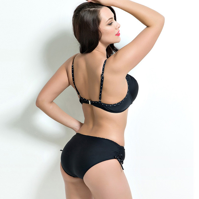 2018 Women Swimwear Sexy Plus Size Swimsuit Fat Wear Plus Size Bikini Set Bathing Suit Push Up Biquini Women Large Cup Bikini 5