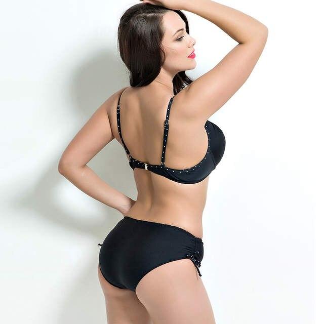 a2cd1dedc9e 2018 Women Swimwear Sexy Plus Size Swimsuit Fat Wear Plus Size Bikini Set Bathing  Suit Push