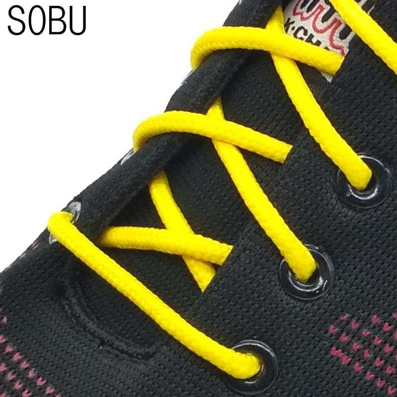 1pair 120cm new design rope shoelaces slip outdoor sports round casual shoelaces skate boot shoe laces strings N049
