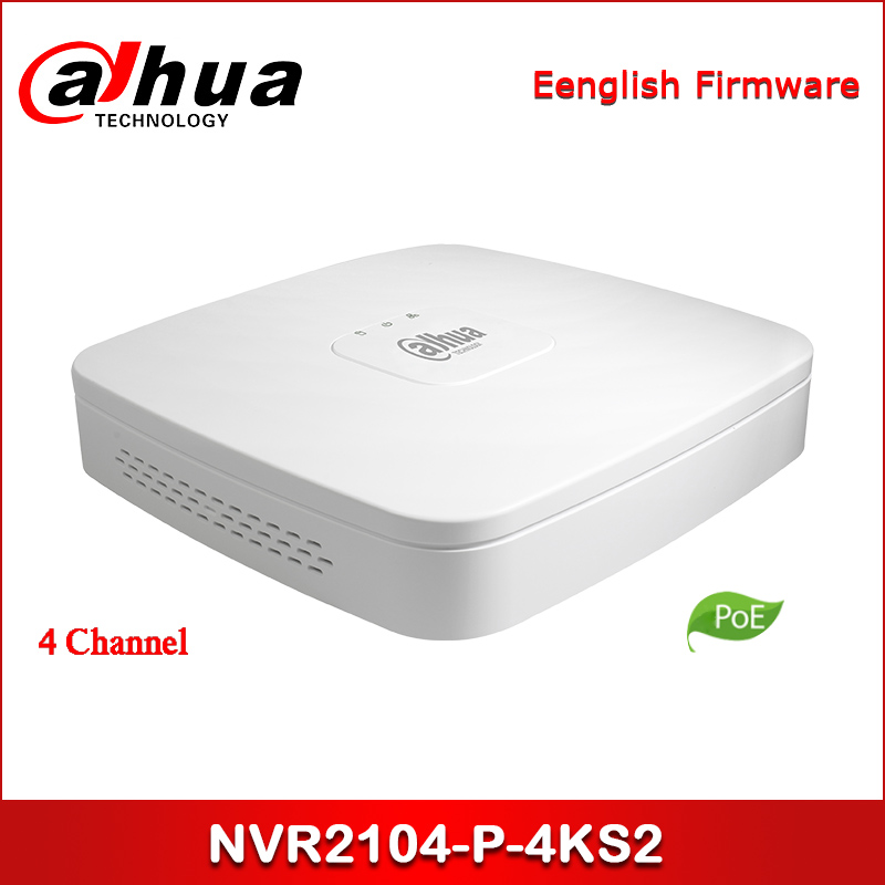 Dahua NVR POE NVR2104-P-4KS2 4 Channel Smart 1U 4PoE Lite 4K H.265 Network Video Recorder