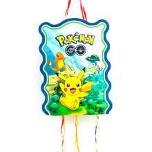 40*30cm Pikachu Pinata Cartoon Funny Party Supplies Kids Disposable Plastic Birthday Boys Favors Decoration