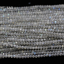 Meihan Wholesale (10strands/set) natural 2.5mm labradorite faceted loose seed beads for jewelry making & DIY Bracelet