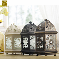Candle Holders Iron Vintage Retro Candlestick Lamp Moroccan Laterns Table Candelabra Wedding Candelabros Home Decor WKL019