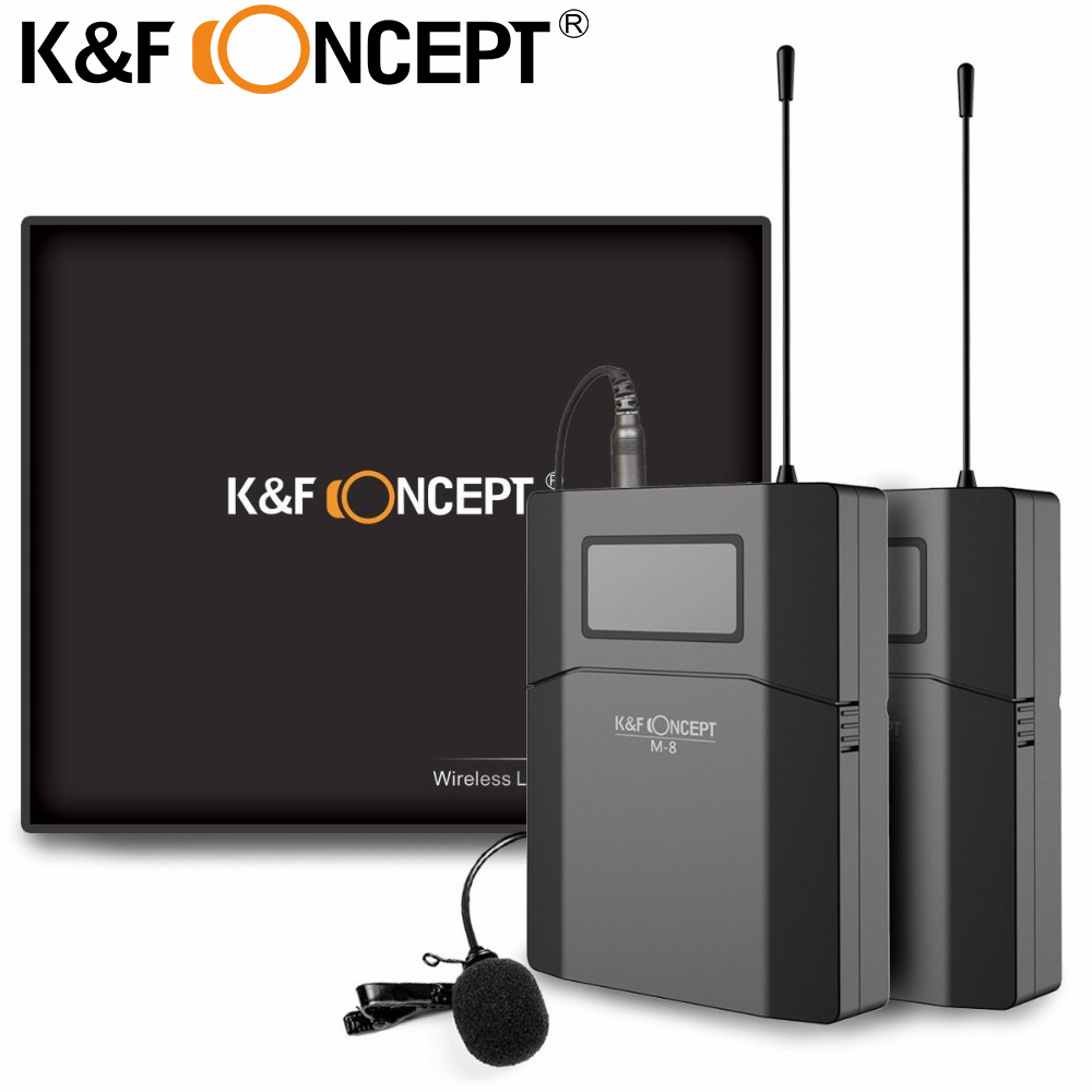 K F Concept M 8 Wireless Microphone Unidirectional Lavalier Microphone For Canon Nikon Sony DSLR Camera