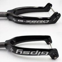 Gipsy G ZERO Carbon Faser Aerodynamische Design Volle CNC Legierung Adapter Super Licht 12 zoll kinder Fahrrad Fahrrad Gabel