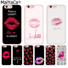 MaiYaCa Mencium Bibir Lipstik Rouge Fashion Phone Case untuk Iphone SE 2020 11 Pro 8 7 66S Plus X 5S SE XR XS X MAX(China)