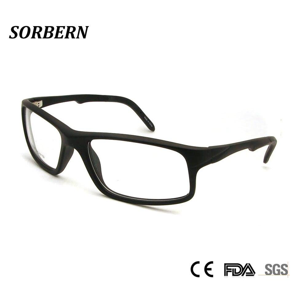 540176e60 البلاستيك إطار نظارة تيتانيوم نظارات الرجال TR90 الرجال النظارات مربع قصر  النظر نظارات نظارات الرياضة نظارات