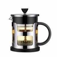 JMH Aço Inoxidável Imprensa Francesa Pote de Café Cafeteira de Vidro Tea Pot Com Filtro coador de Chá Chaleira Bule de Café|Cafeteiras| |  -